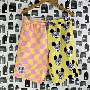 Neff x Disney Checkered Mickey Mouse Swim Trunks